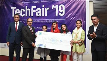 AKES,P students win 1st and 2nd positions at Tech Fair